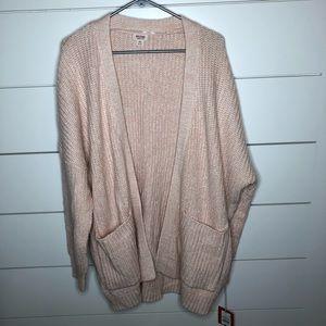 Mossimo Light Pink Oversized Knit Sweater Cardigan